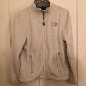 The north face white ivory jacket M